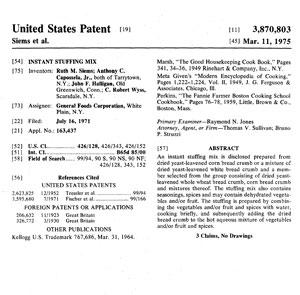 Stuffing Patent