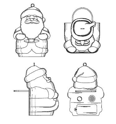 Santa Ornament Smoke Detector