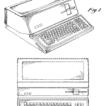Steve Jobs' first patent was a design for a new personal computer. D268584 was issued April 12, 1983.