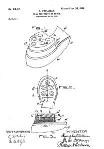O'Sullivan's original rubber sole patent, issued January 24, 1899.