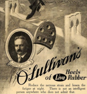 Today's question wasn't whether or not Humphrey O'Sullivan patented the rubber heel. It was WHEN...