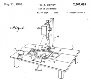 """A drawing from """"The Art of Animation,"""" patented May 21, 1940"""