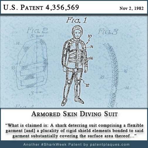 US 4356569 - Armored Skin Diving Suit