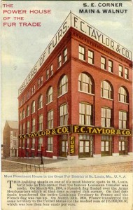 Old Taylor Fur Getter AD Displaying Thier Building