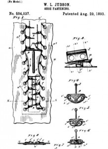 Corset Clasp Patent - Whitcomb L. Judson